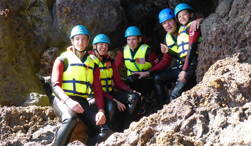 Coasteering Group on Madeira Island