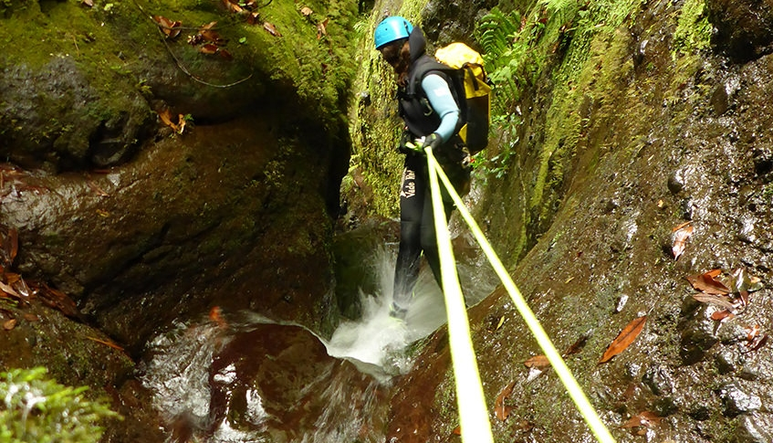 Enjoying Canyoning in Madeira