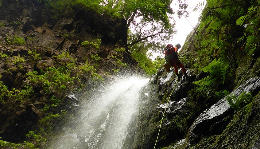 Difficult Canyoning in Madeira