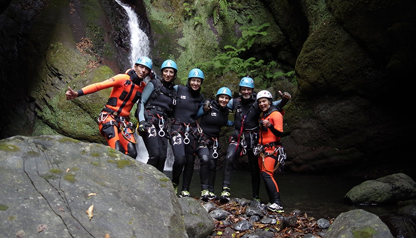 Group Canyoning in Madeira